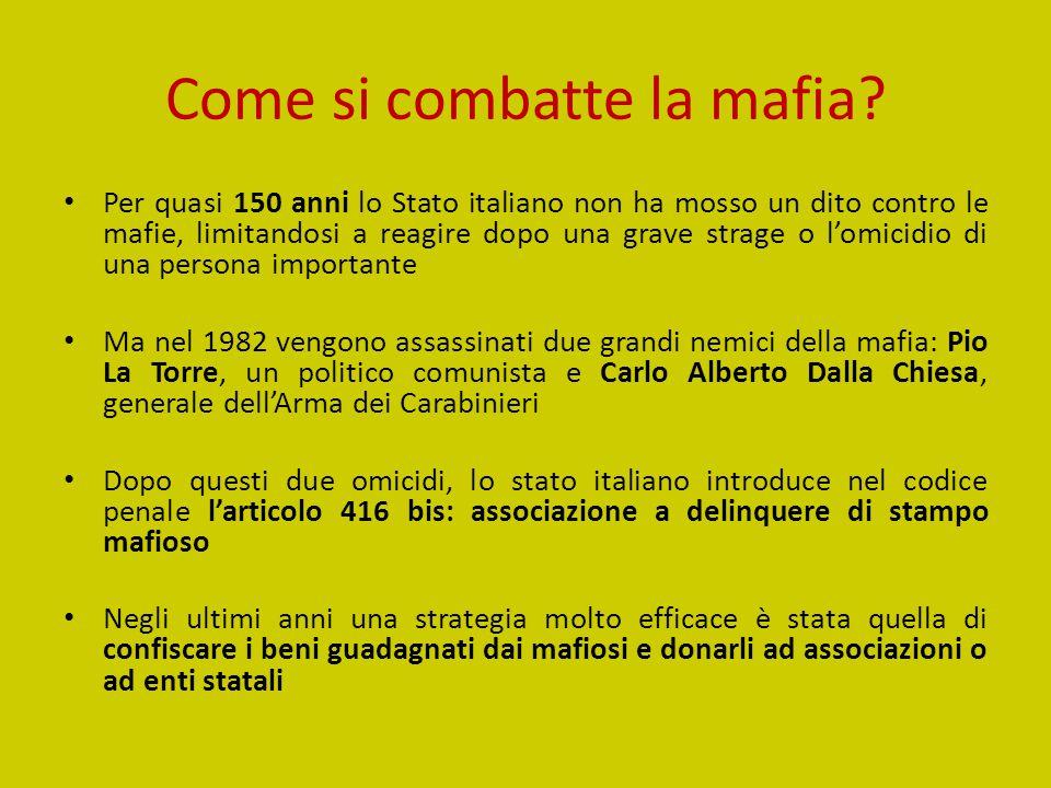 Come si combatte la mafia