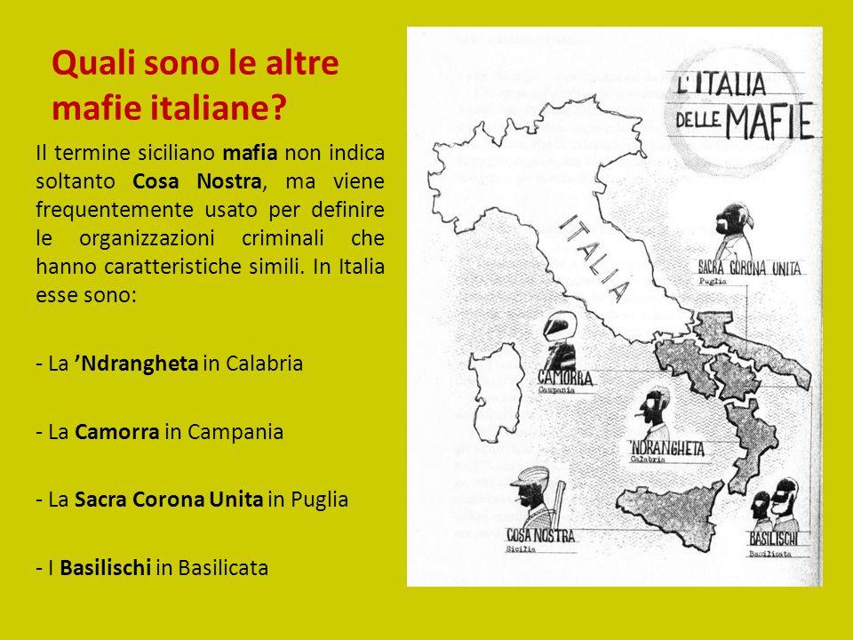 Quali sono le altre mafie italiane