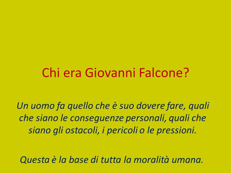Chi era Giovanni Falcone