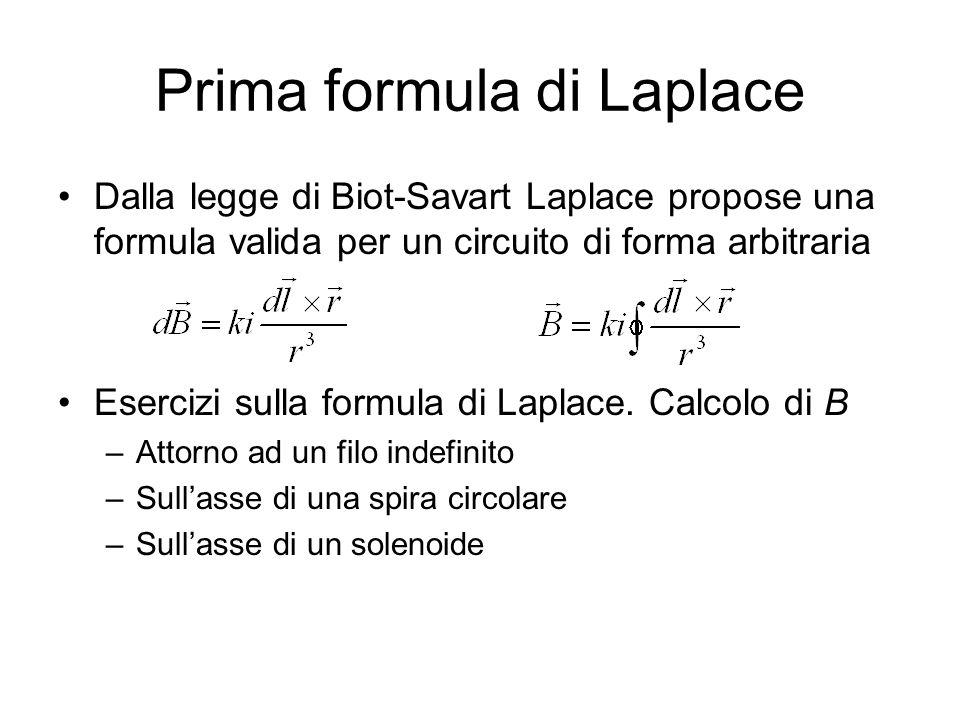 Prima formula di Laplace