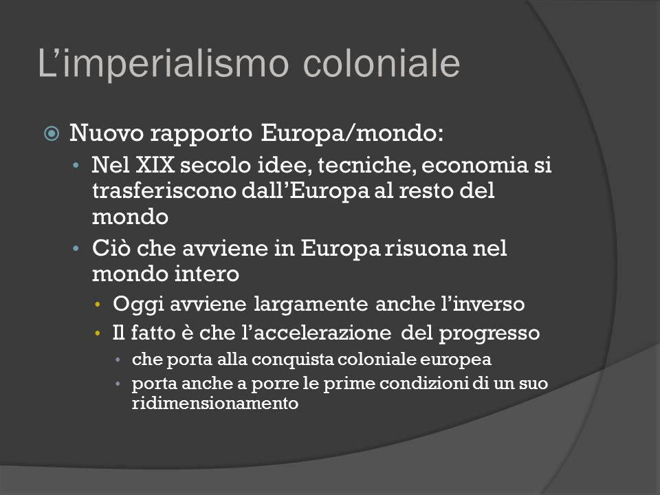 L'imperialismo coloniale