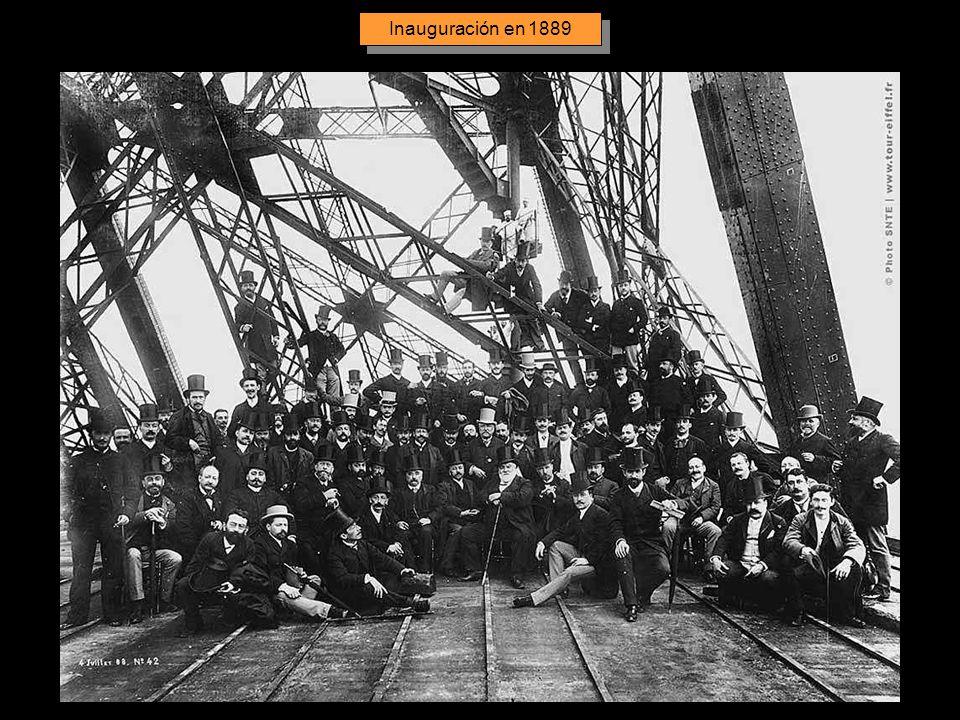 Inauguración en 1889