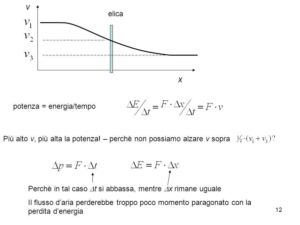 v x elica potenza = energia/tempo