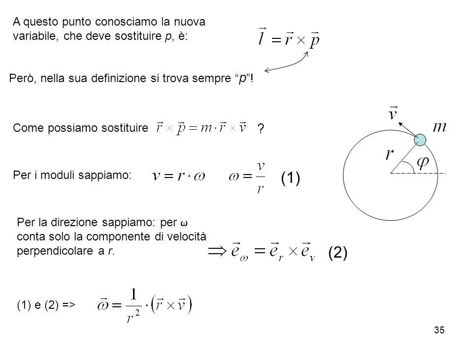 A questo punto conosciamo la nuova variabile, che deve sostituire p, è: