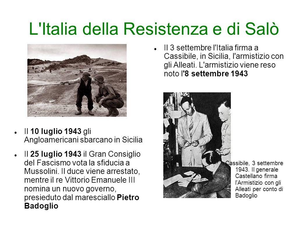 L Italia della Resistenza e di Salò
