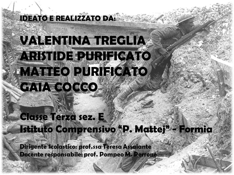 ARISTIDE PURIFICATO MATTEO PURIFICATO GAIA COCCO Classe Terza sez. E