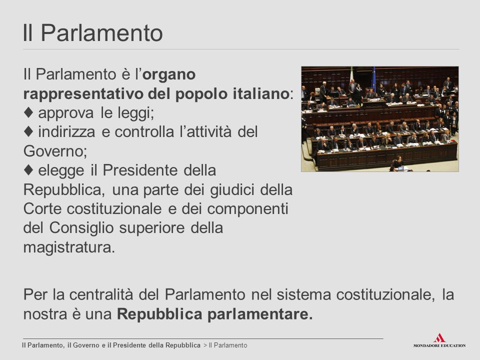 L ordinamento della repubblica ppt video online scaricare for Parlamento della repubblica