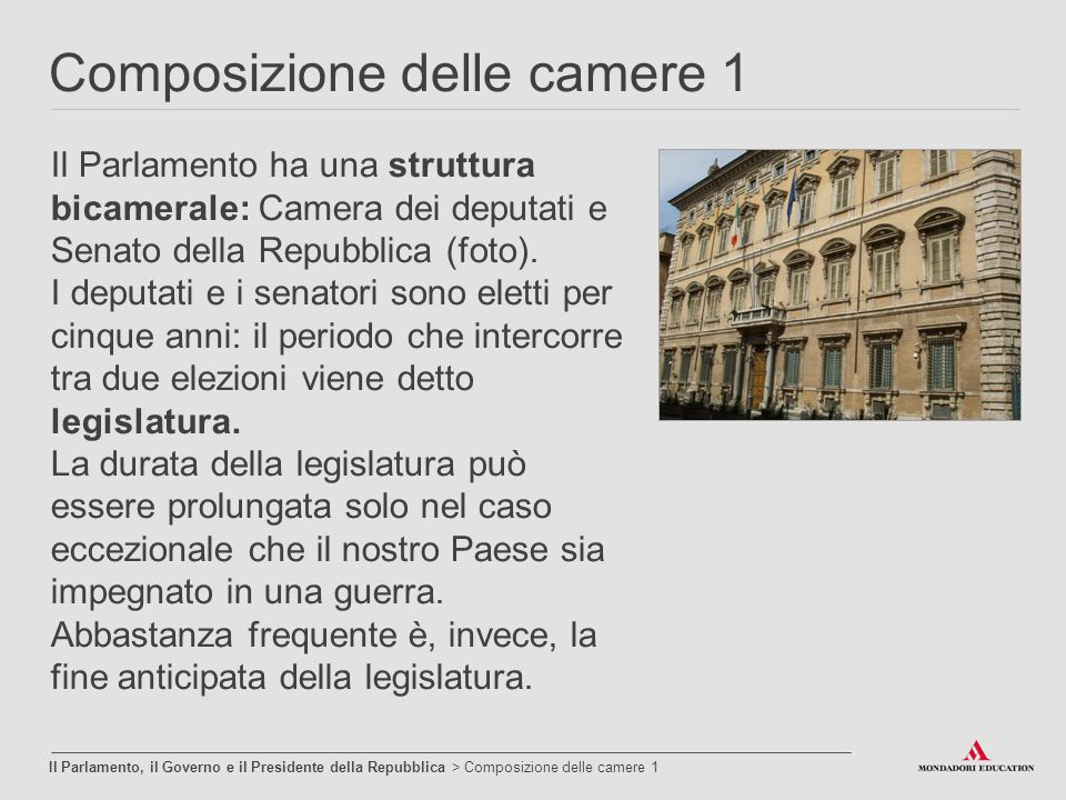 L ordinamento della repubblica ppt video online scaricare for Camera dei deputati on line