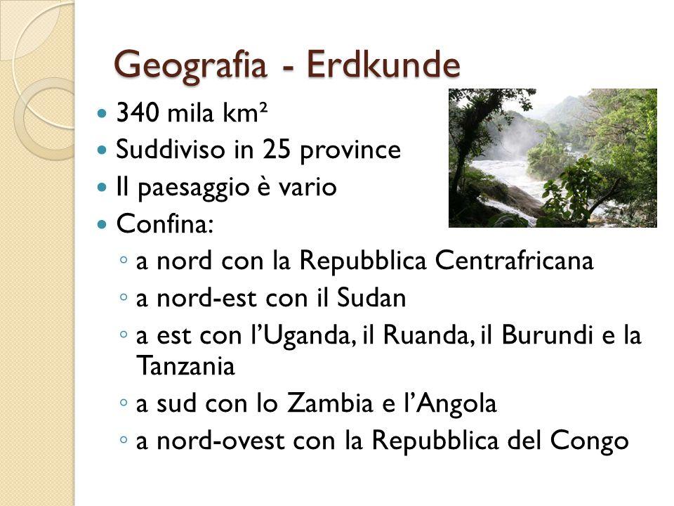Geografia - Erdkunde 340 mila km² Suddiviso in 25 province
