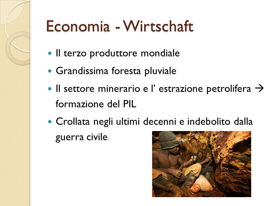 Economia - Wirtschaft Il terzo produttore mondiale
