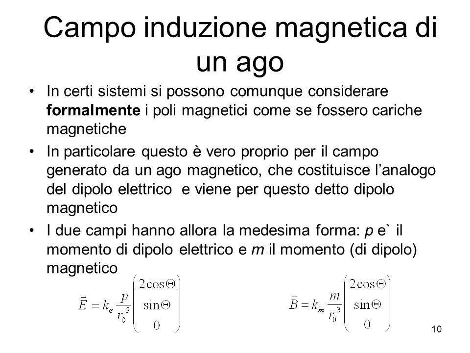 Campo induzione magnetica di un ago