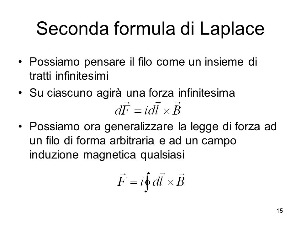 Seconda formula di Laplace