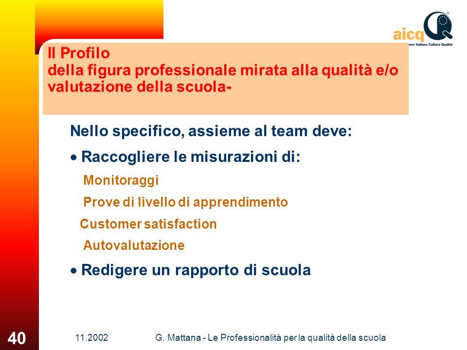 G. Mattana - Le Professionalità per la qualità della scuola