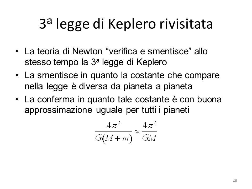 3a legge di Keplero rivisitata