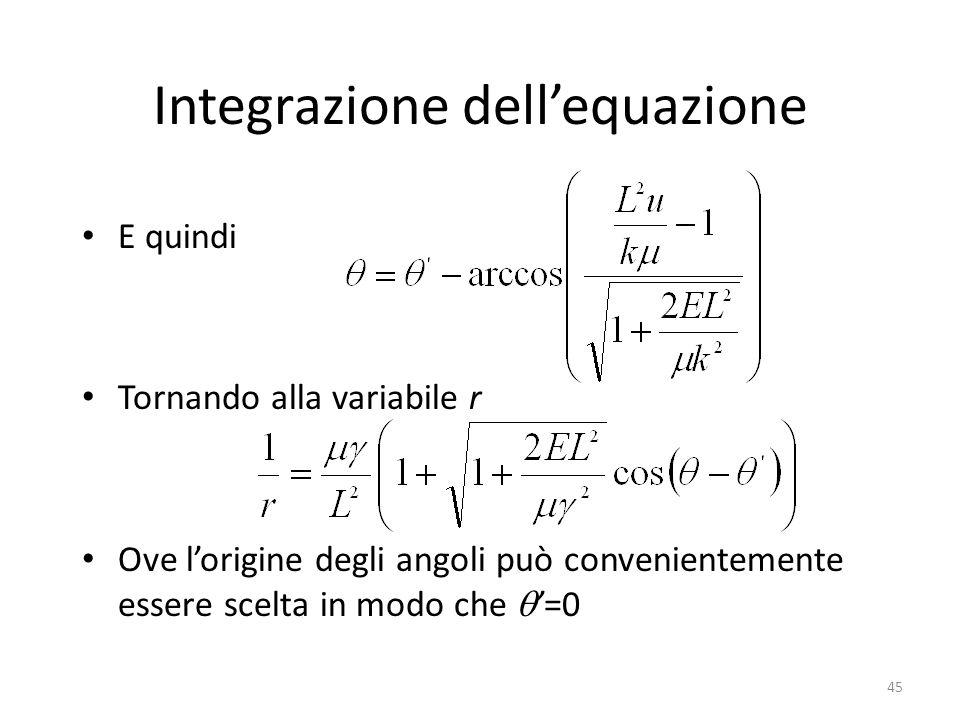 Integrazione dell'equazione