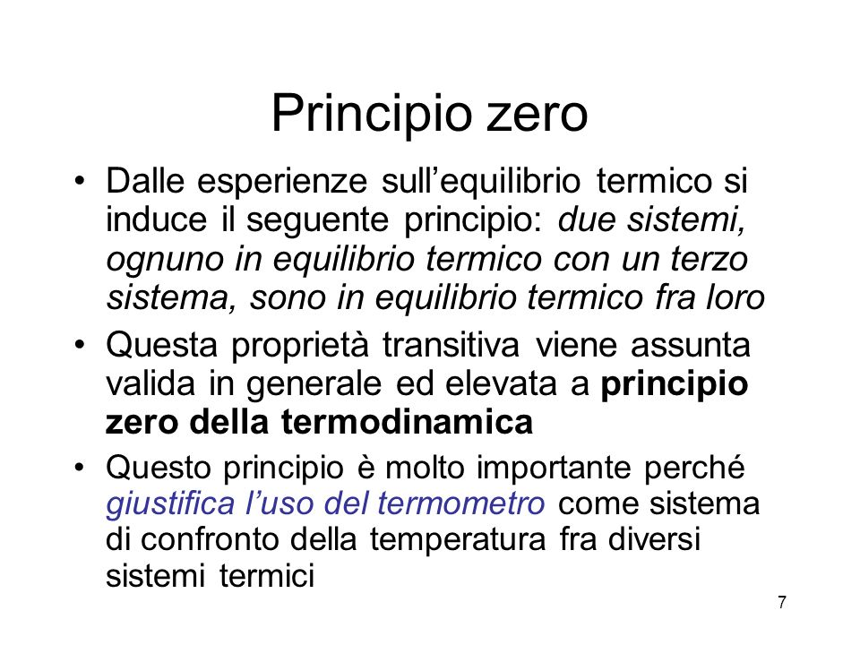 Principio zero