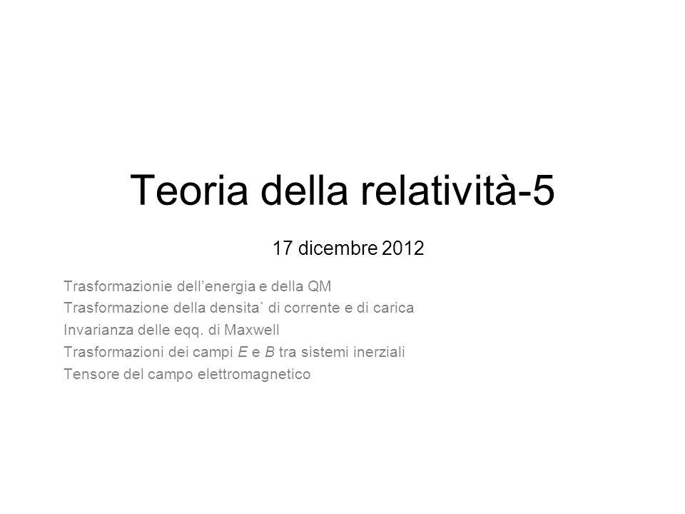 Teoria della relatività-5 17 dicembre 2012
