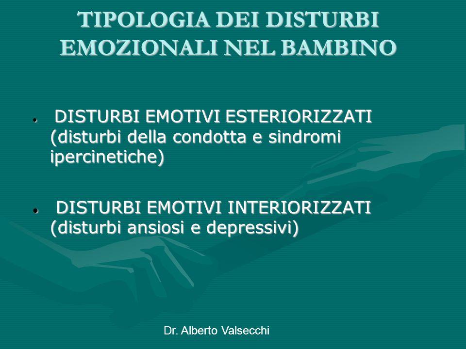 TIPOLOGIA DEI DISTURBI EMOZIONALI NEL BAMBINO
