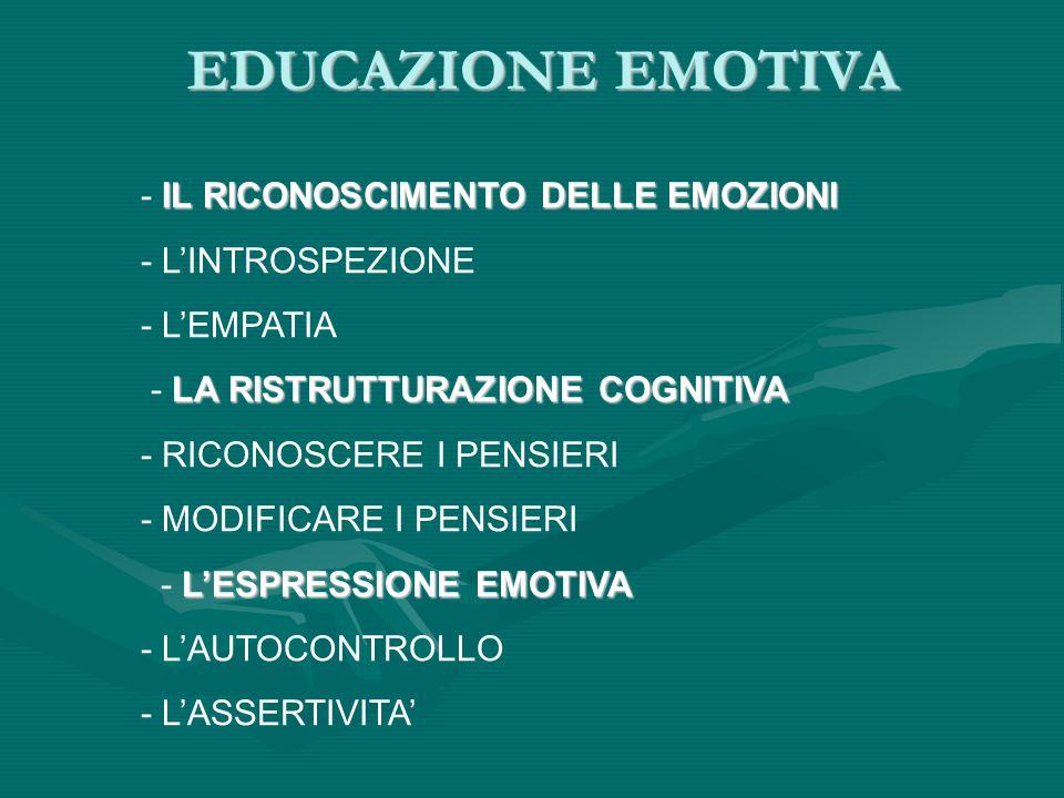 EDUCAZIONE EMOTIVA - IL RICONOSCIMENTO DELLE EMOZIONI