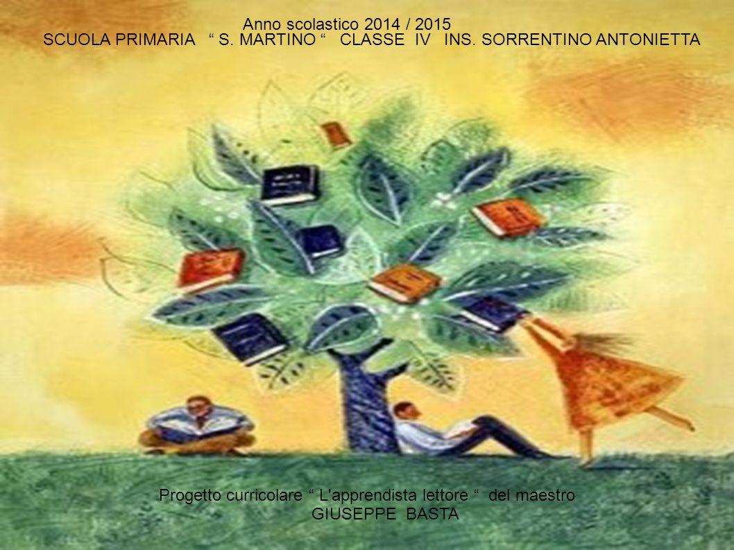 Anno scolastico 2014 / 2015 SCUOLA PRIMARIA S. MARTINO CLASSE IV INS. SORRENTINO ANTONIETTA.
