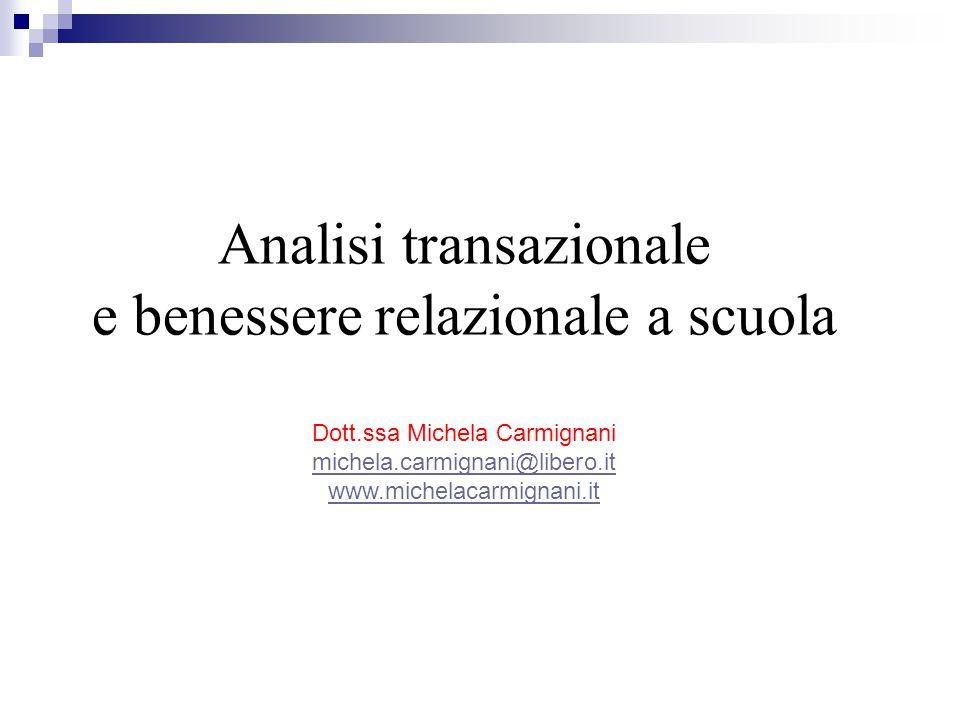 Analisi transazionale e benessere relazionale a scuola