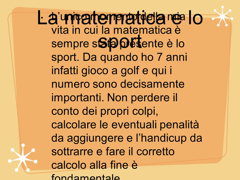 La matematica e lo sport