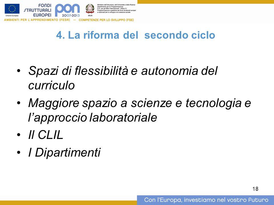 4. La riforma del secondo ciclo