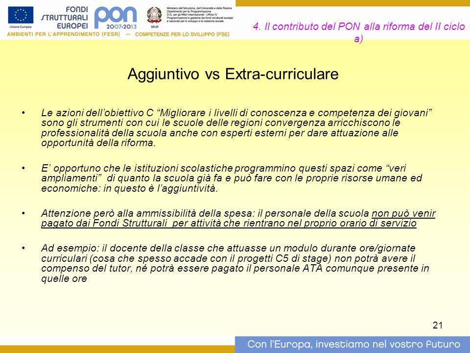 4. Il contributo del PON alla riforma del II ciclo a)