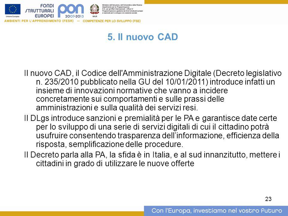 5. Il nuovo CAD