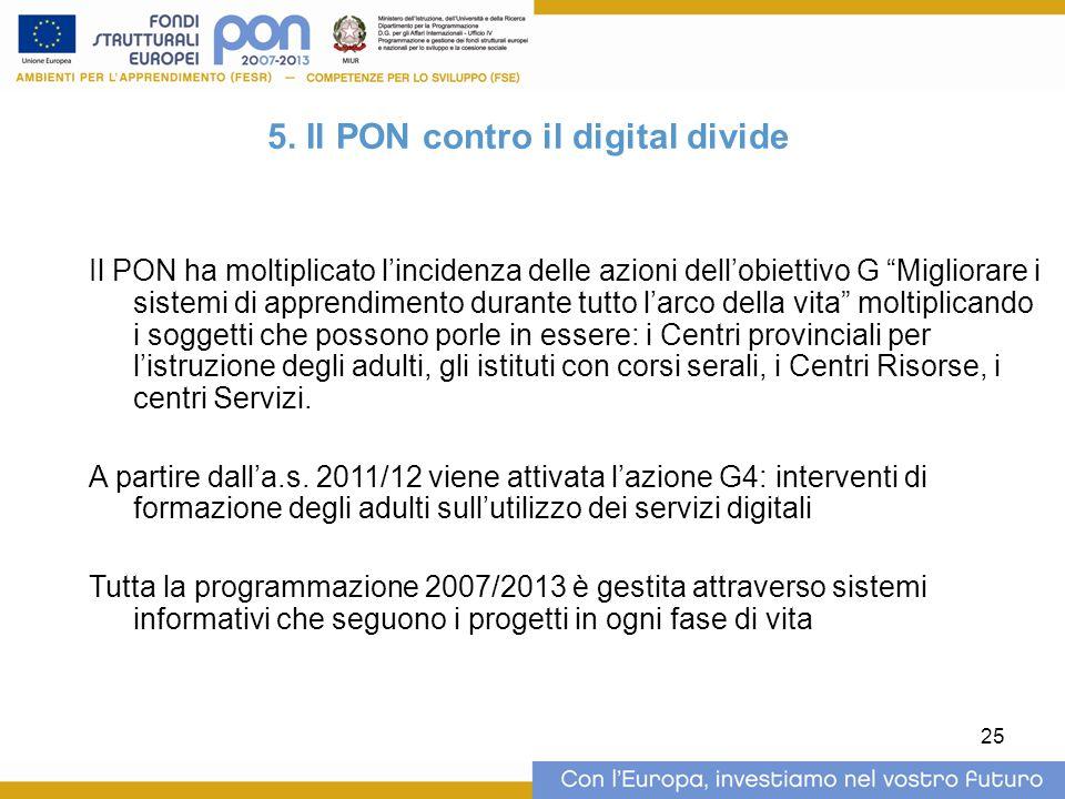 5. Il PON contro il digital divide