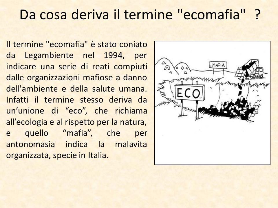Da cosa deriva il termine ecomafia
