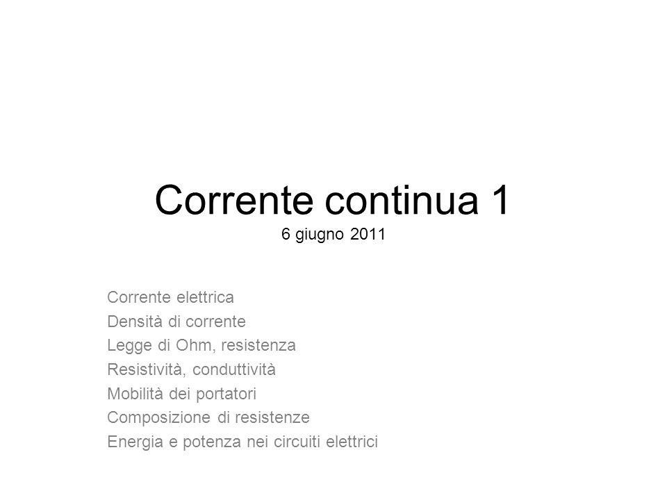 Corrente continua 1 6 giugno 2011