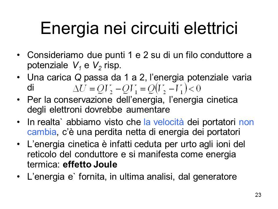 Energia nei circuiti elettrici