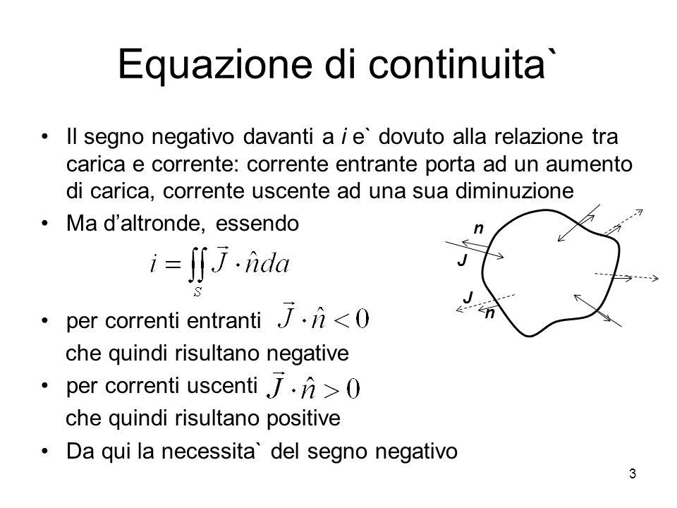 Equazione di continuita`