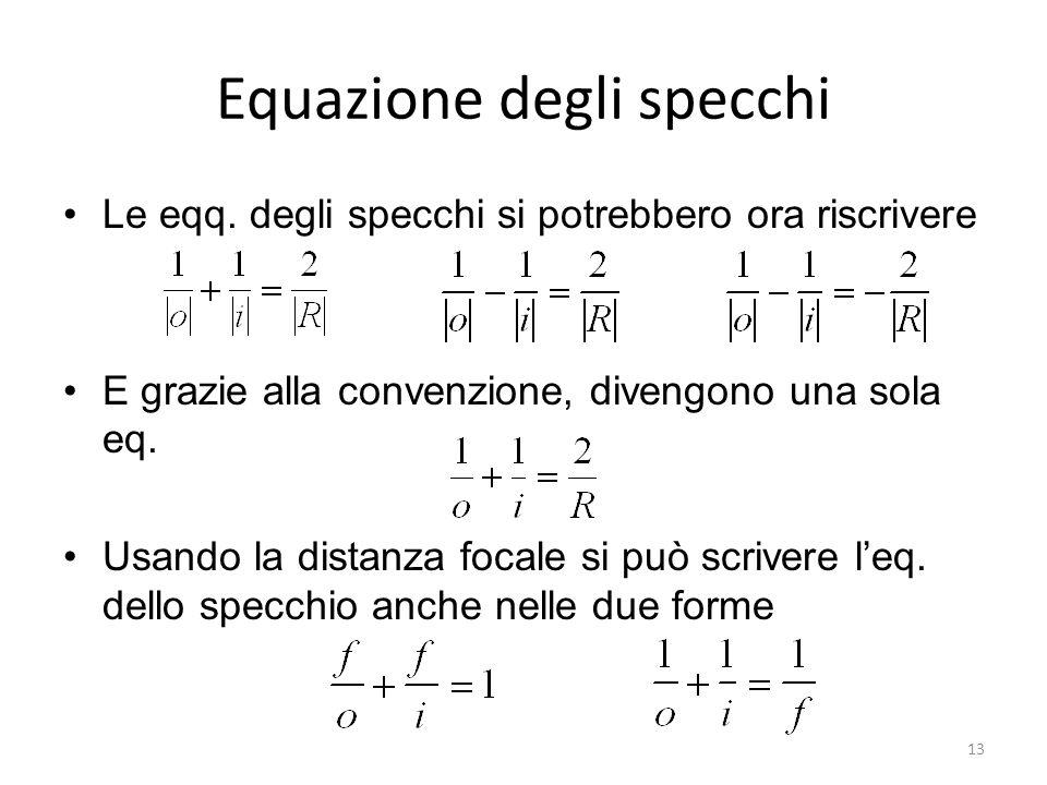 Equazione degli specchi