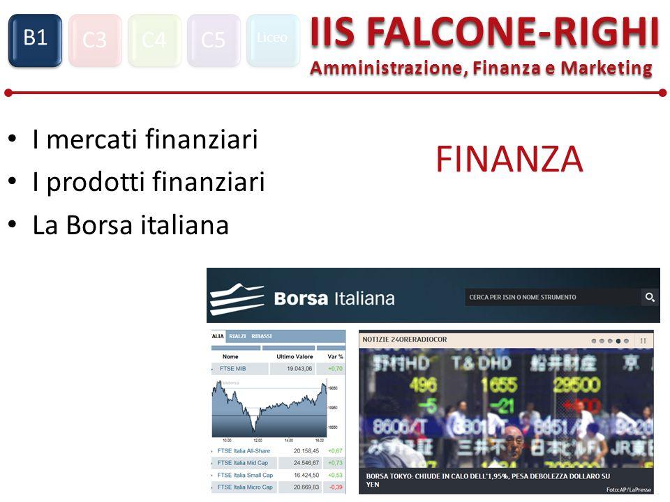 I mercati finanziari I prodotti finanziari La Borsa italiana FINANZA