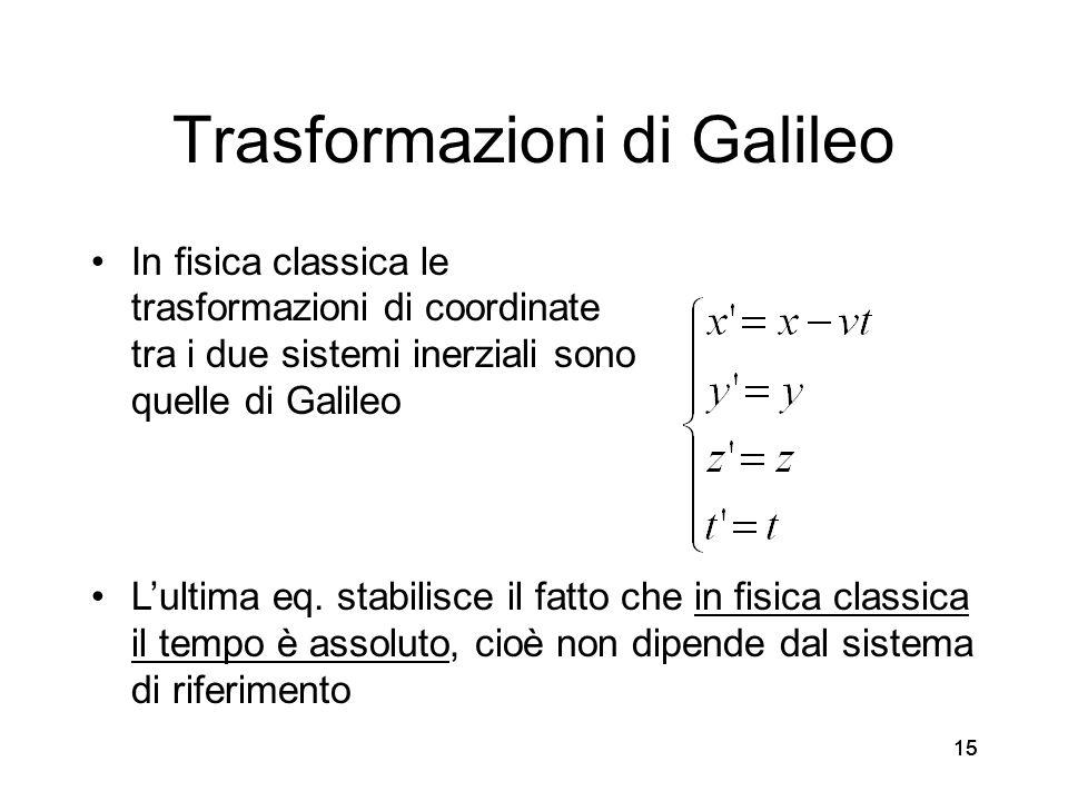 Trasformazioni di Galileo