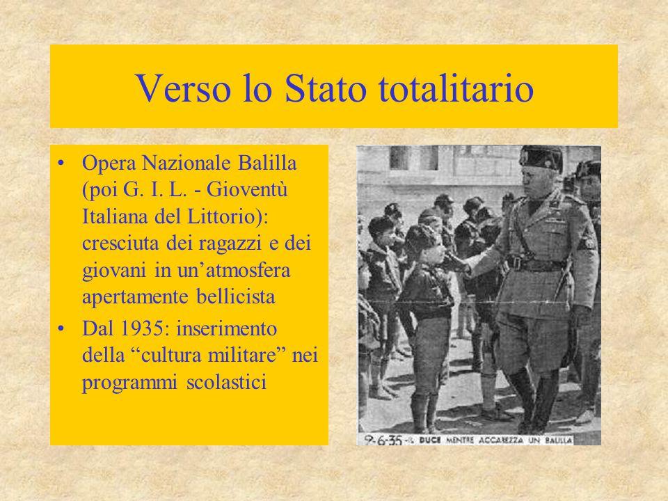Verso lo Stato totalitario