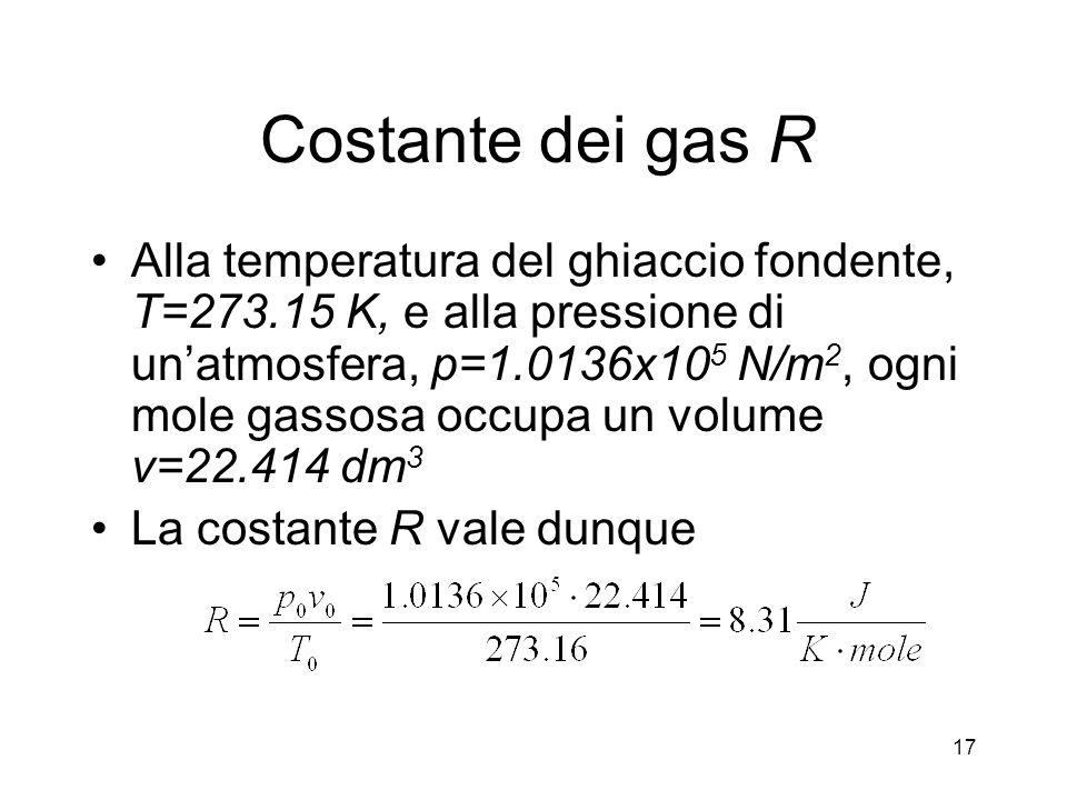 Costante dei gas R