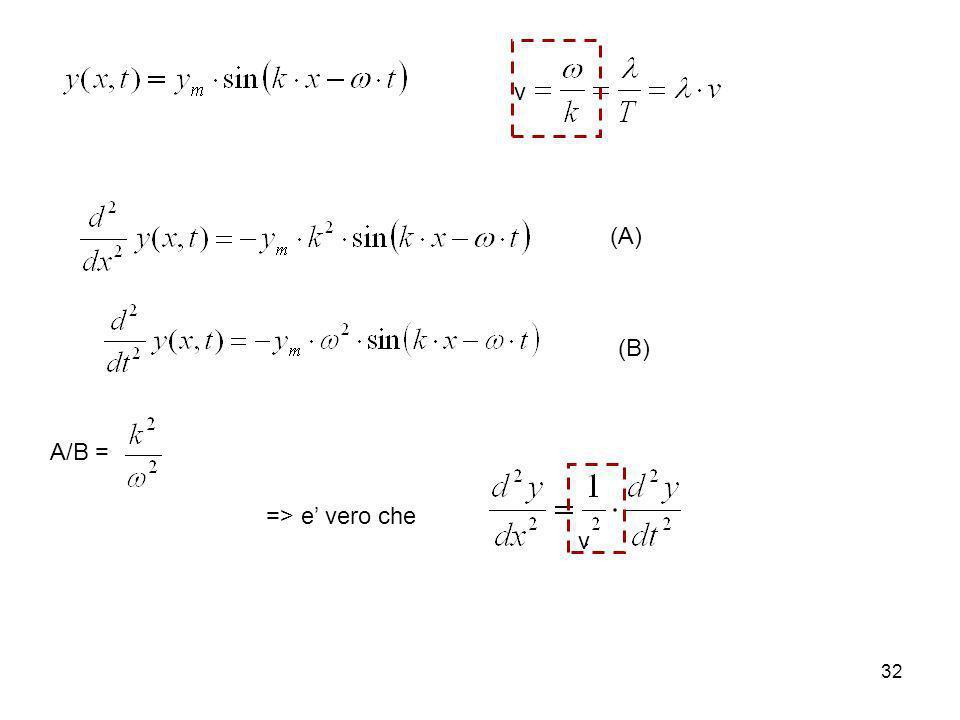 v (A) (B) A/B = => e' vero che v