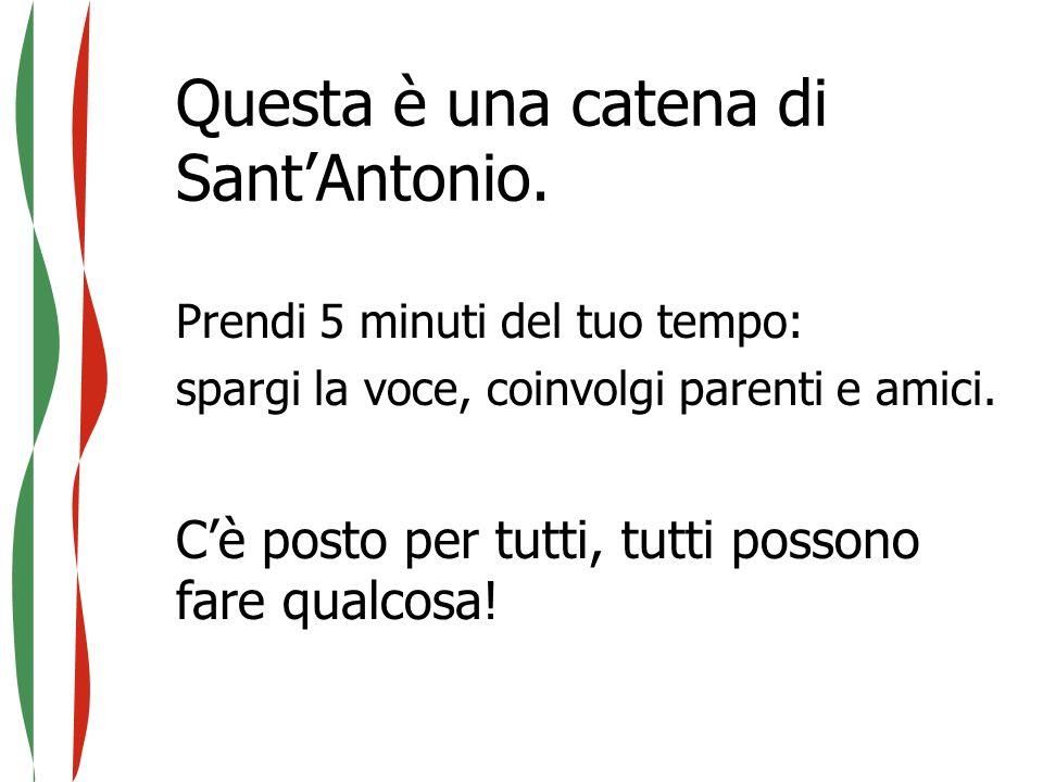 Questa è una catena di Sant'Antonio.