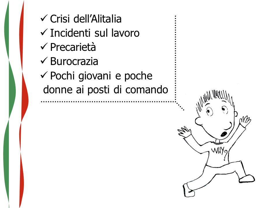 Crisi dell'Alitalia Incidenti sul lavoro. Precarietà.