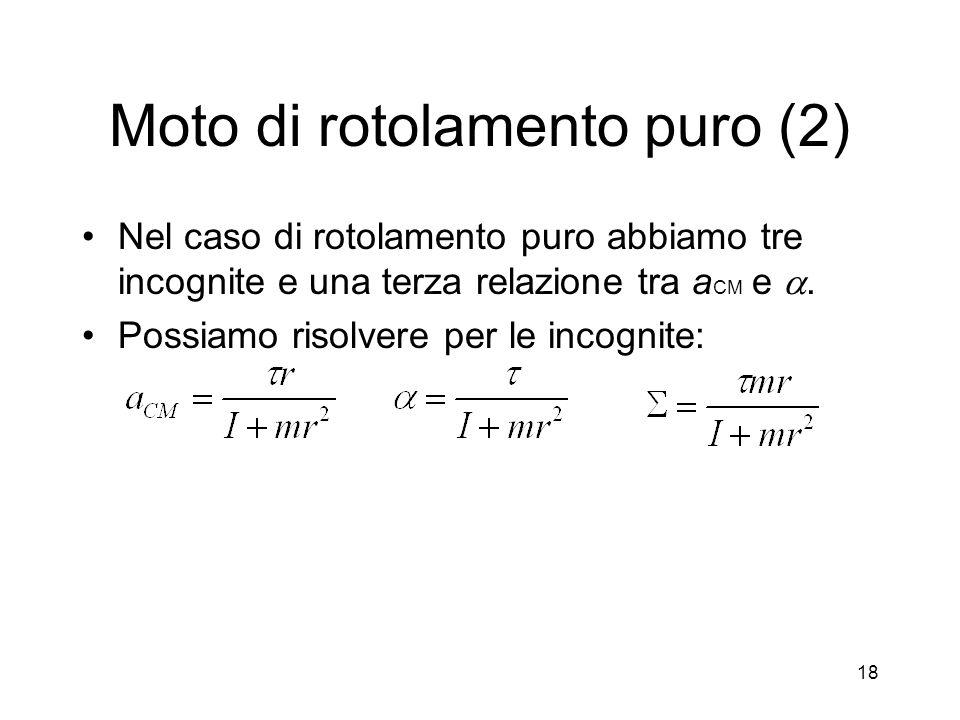Moto di rotolamento puro (2)