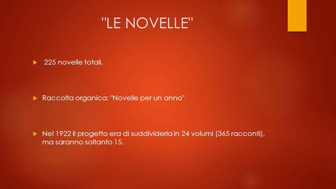 LE NOVELLE 225 novelle totali.