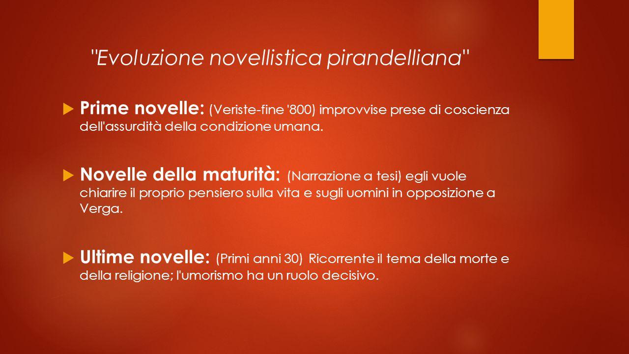Evoluzione novellistica pirandelliana