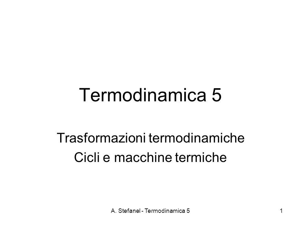 Trasformazioni termodinamiche Cicli e macchine termiche
