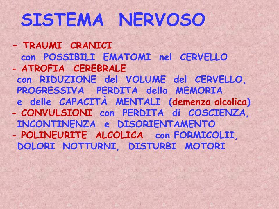 SISTEMA NERVOSO - TRAUMI CRANICI con POSSIBILI EMATOMI nel CERVELLO