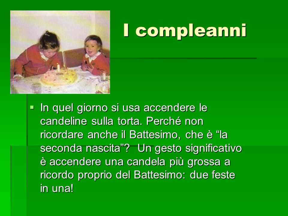 I compleanni
