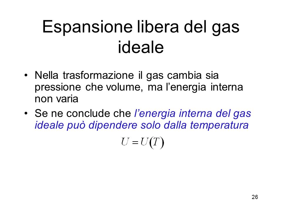 Espansione libera del gas ideale
