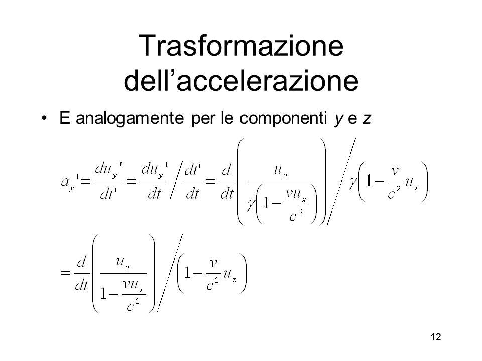 Trasformazione dell'accelerazione